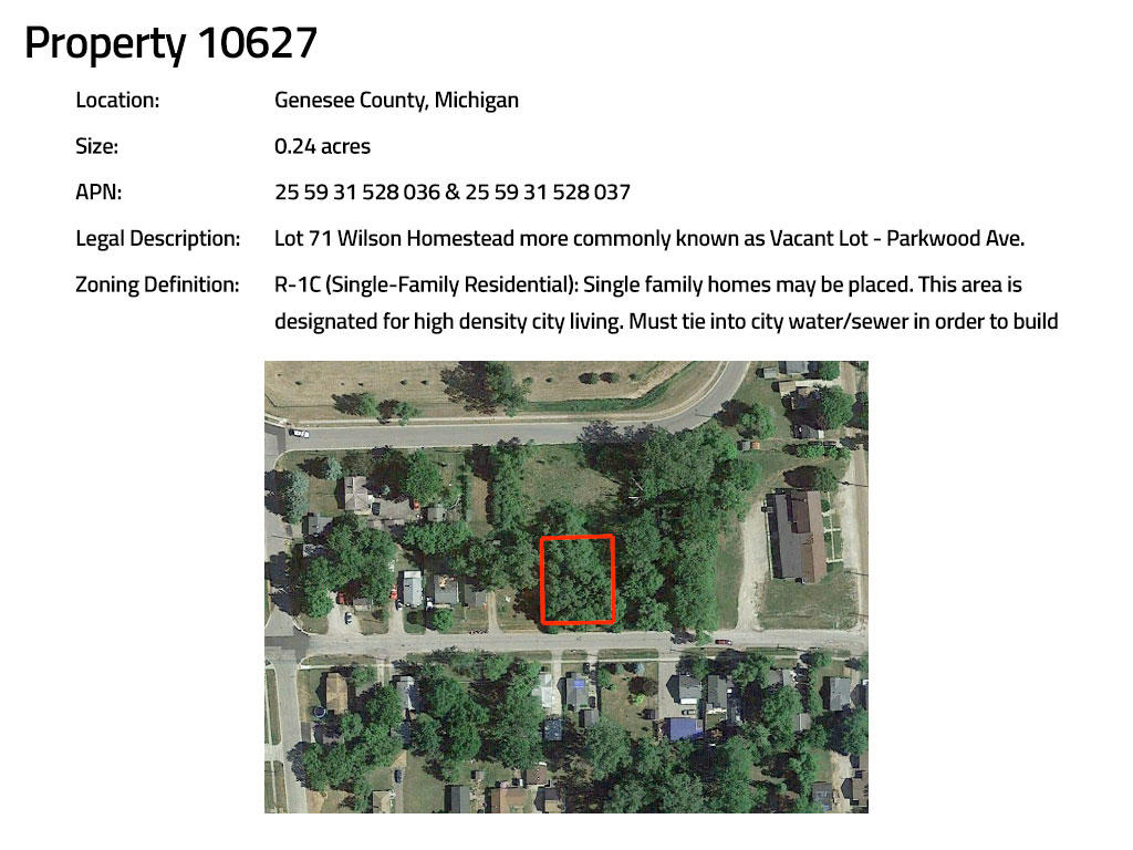 Intermediate Pack of Four Residential Parcels in Burton Michigan - Image 10