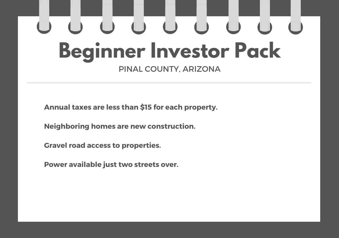 Beginner Pack of Over Ten Arizona Investment Lots - Image 0