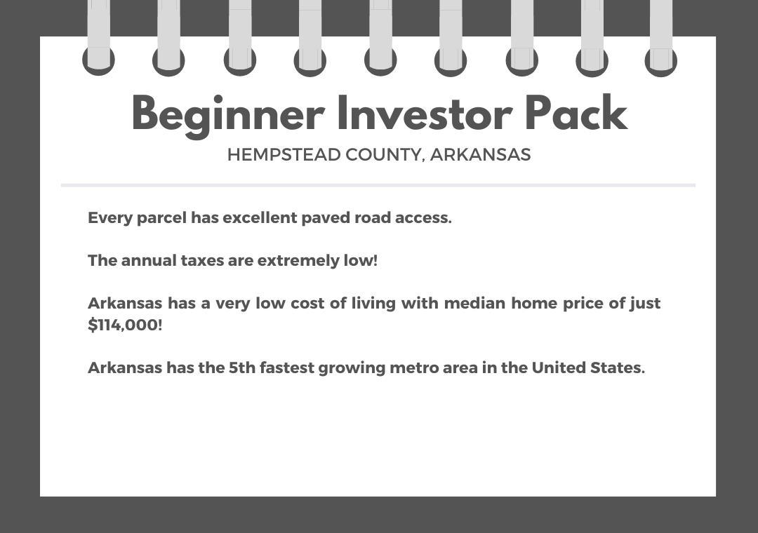 Beginner Investor Pack of Three Residential Arkansas Lots - Image 0