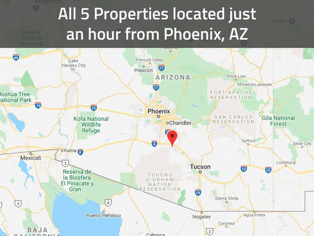 Intermediate Arizona Investor Pack of Five Side By Side Lots - Image 1