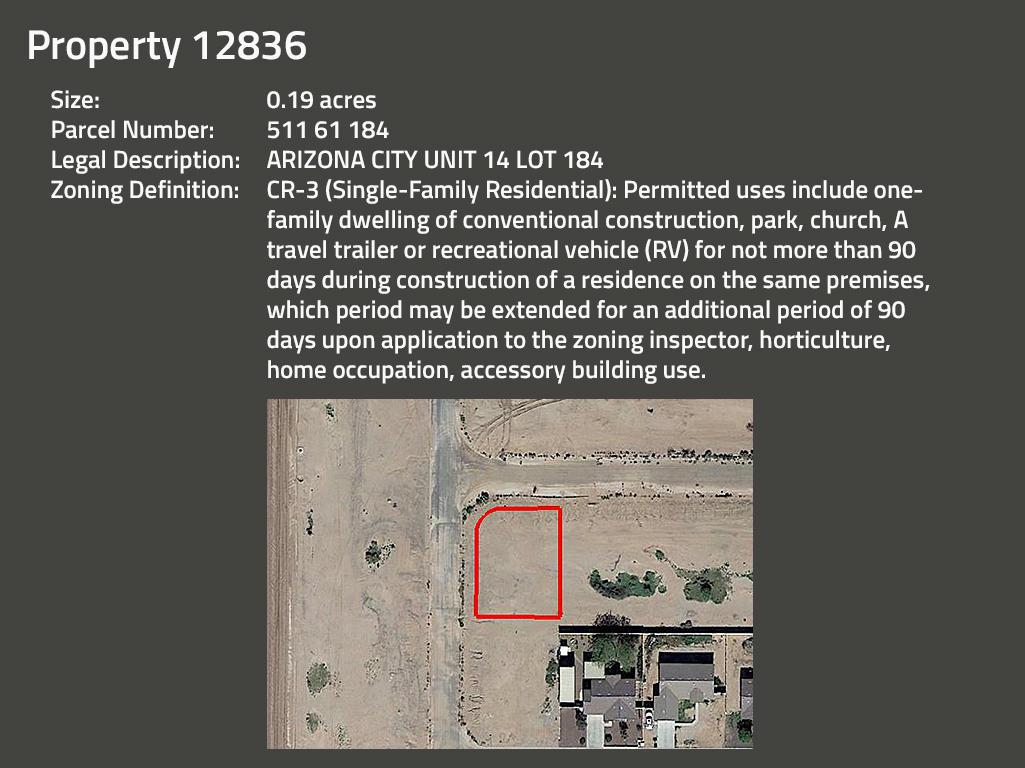 Intermediate Arizona Investor Pack of Five Side By Side Lots - Image 3
