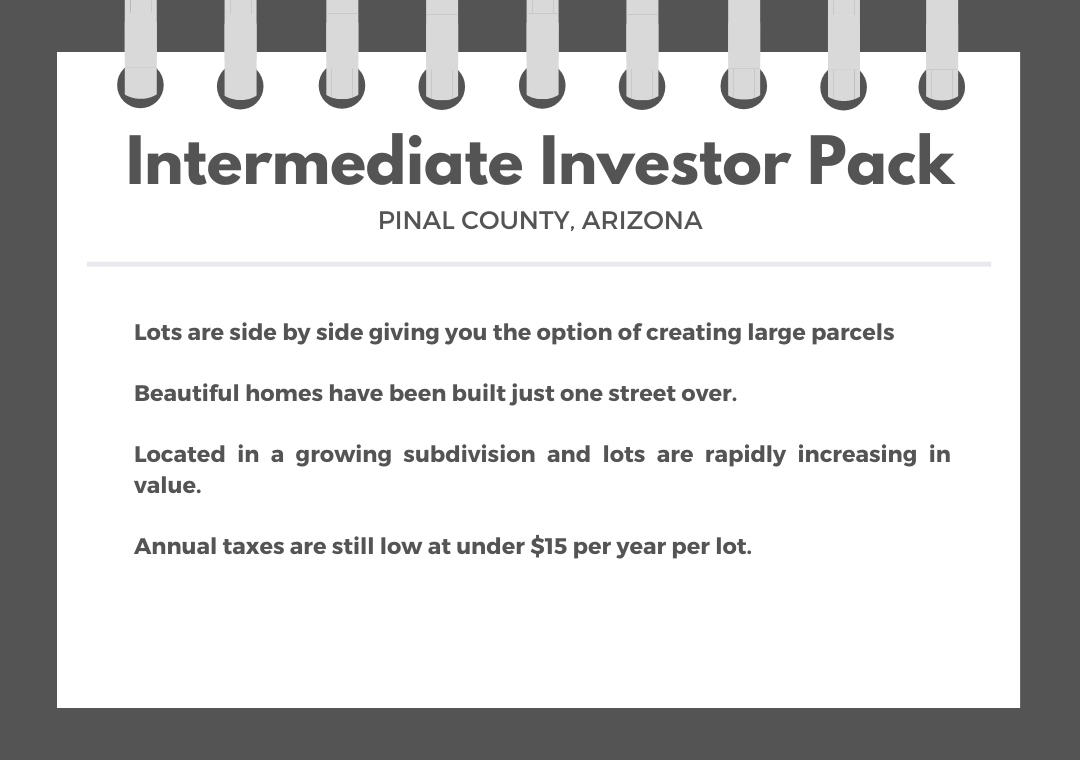 Intermediate Arizona Investor Pack of Five Side By Side Lots - Image 0