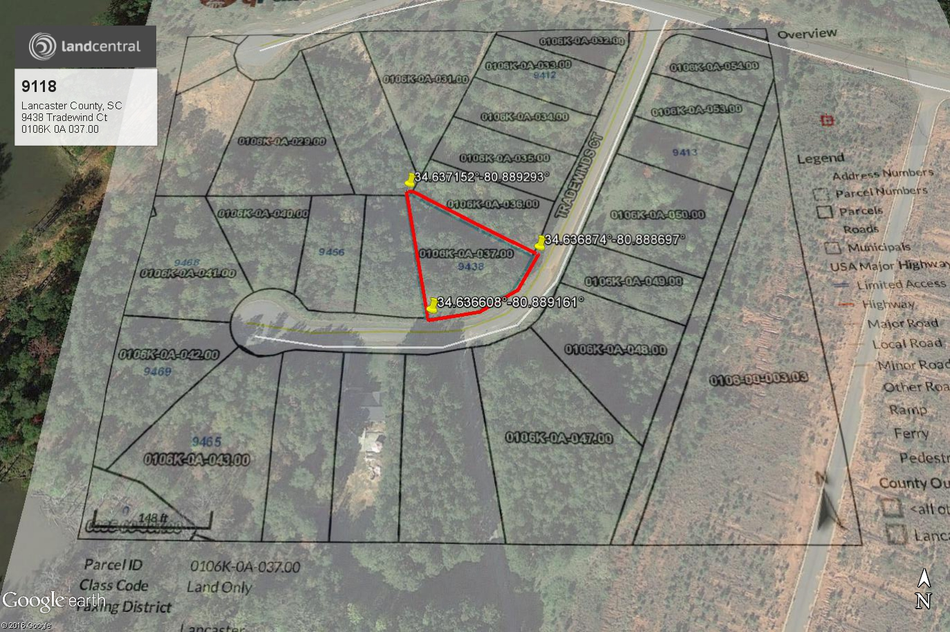 Other Available Maps Lakeside Lot in South