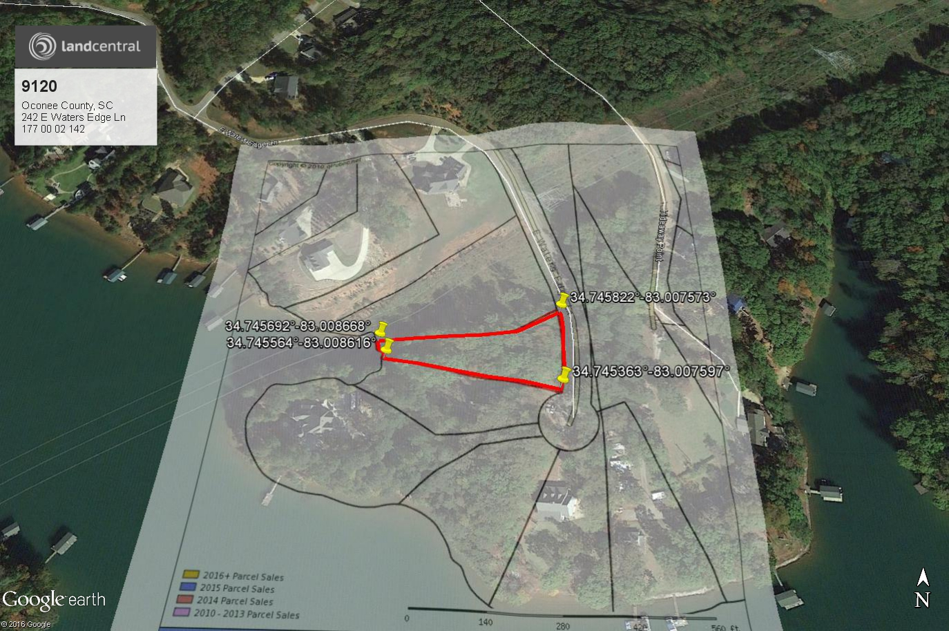 Half Acre Lot On Lake Keowee Inside Of Waters Edge Subdivision