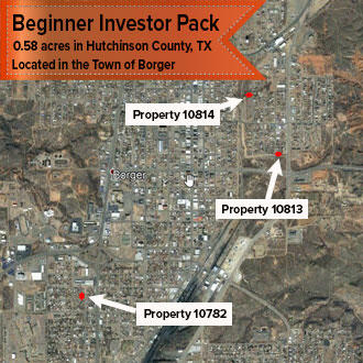 Beginner Pack of Three City Lots in Northern Texas - Image 1