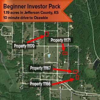 Kansas Four Lot Beginner Investor Pack Ideal for Vacation Rentals - Image 1