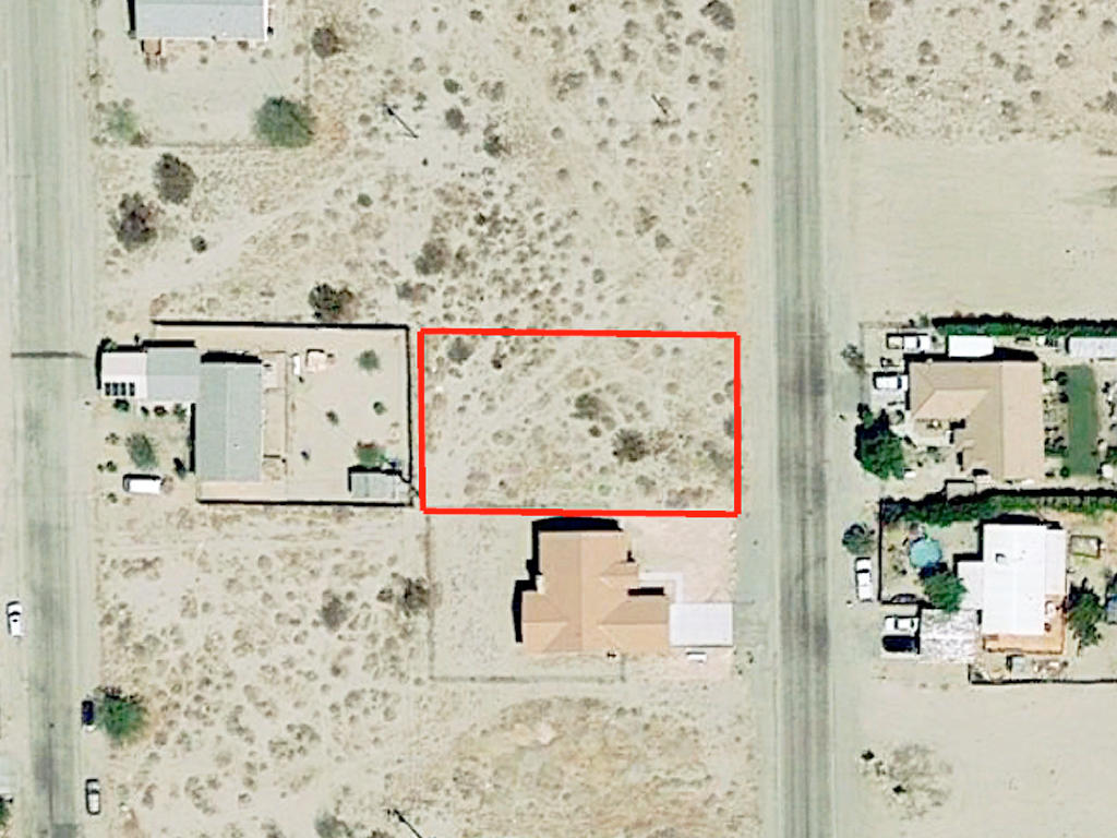 Flat Lot on Paved Road at the Edge of Desert Hot Springs, California - Image 2