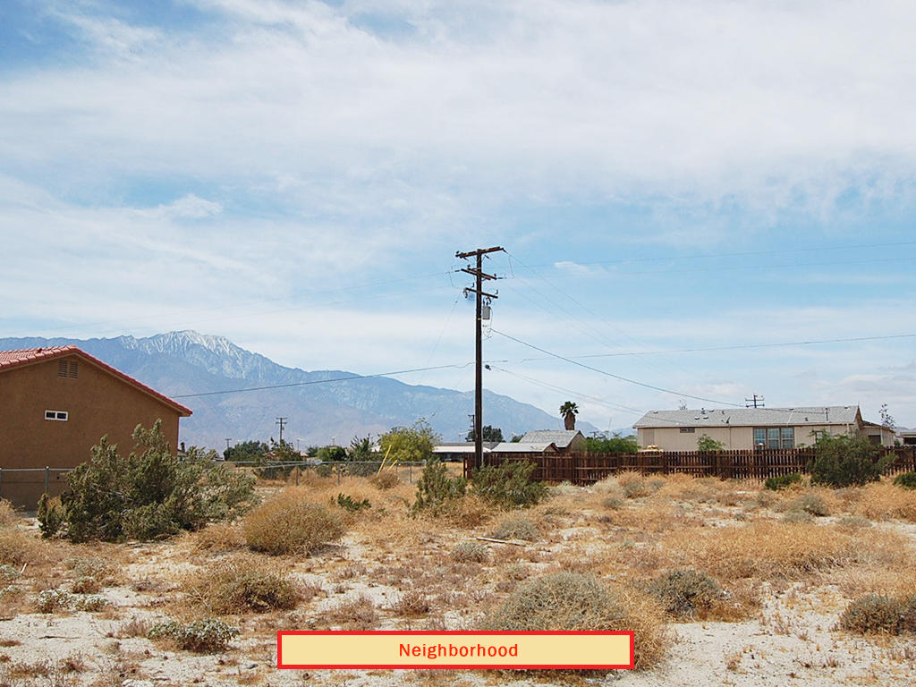 Flat Lot on Paved Road at the Edge of Desert Hot Springs, California - Image 4